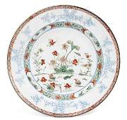 A Chinese Imari porcelain plate decorated with swi