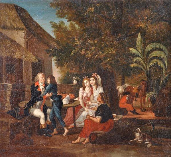 South American School (18th century), Casta scenes