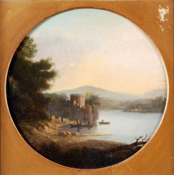 Circle of Alexander Nasmyth, Figures in boats by a