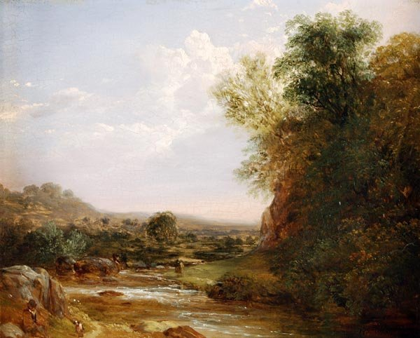 Thomas Creswick (1811-1869), Travellers by a river