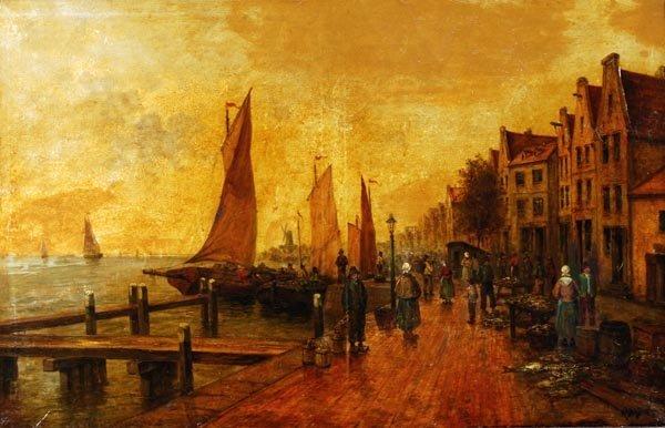 R. Monti (19th century), Figures on a promenade, p