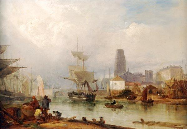 W. E. Bates (19th century), View of Bristol, Oil o