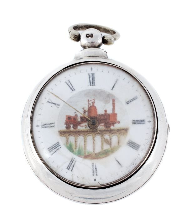 A Victorian silver cased-pair pocket watch, no. 37