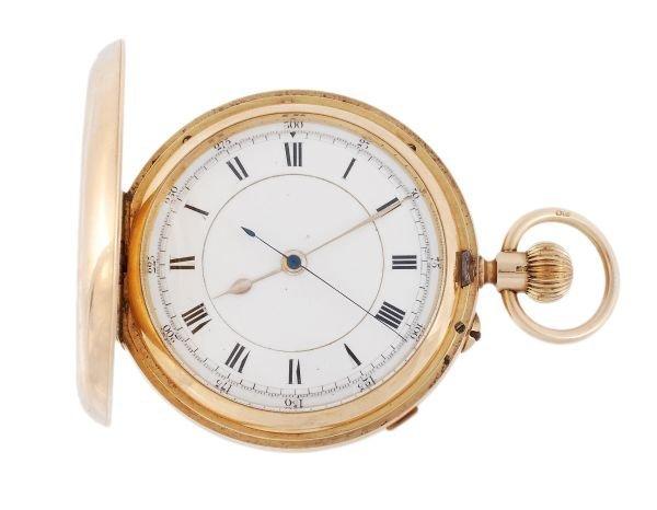 An Edwardian 18 carat gold hunter pocket watch, no