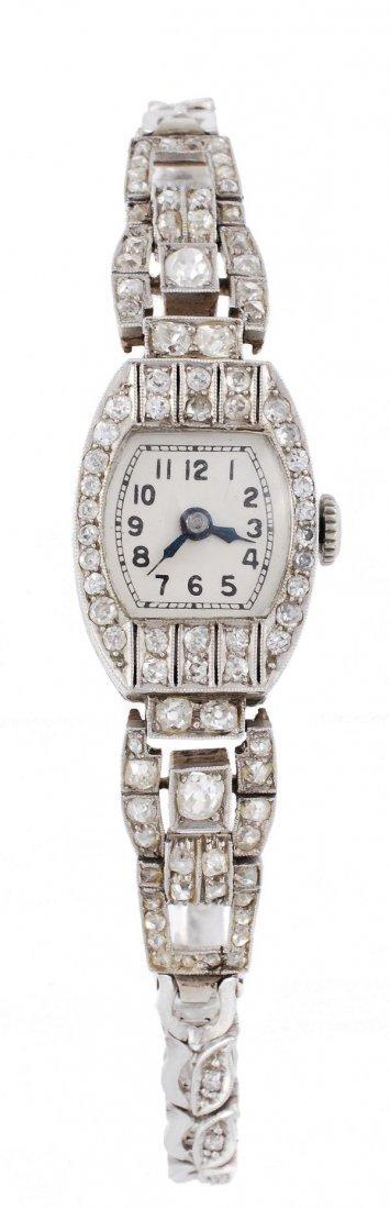 Wilma, a lady's Art Deco diamond cocktail wristwat