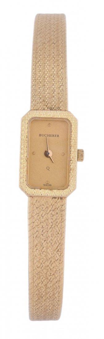 Bucherer, a lady's 18 carat gold wristwatch, circa
