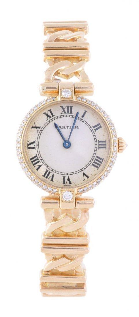 Cartier, Paris, a lady's 18 carat gold and diamond