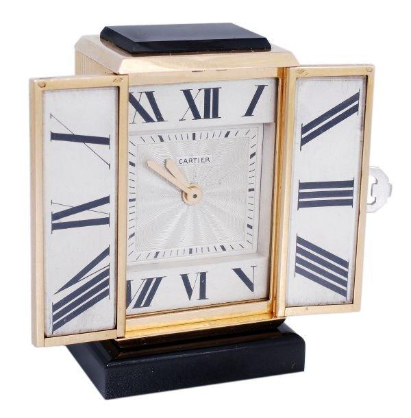 Cartier, Tryptique, Pendulette en cadran deployant