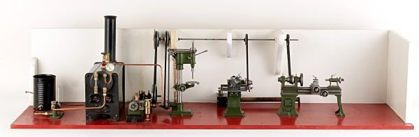 An exhibition standard model of a live-steam works