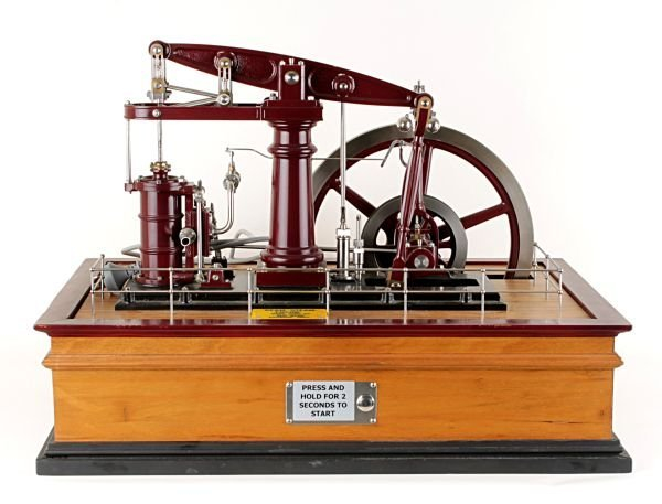 An exhibition standard model of a live-steam beam