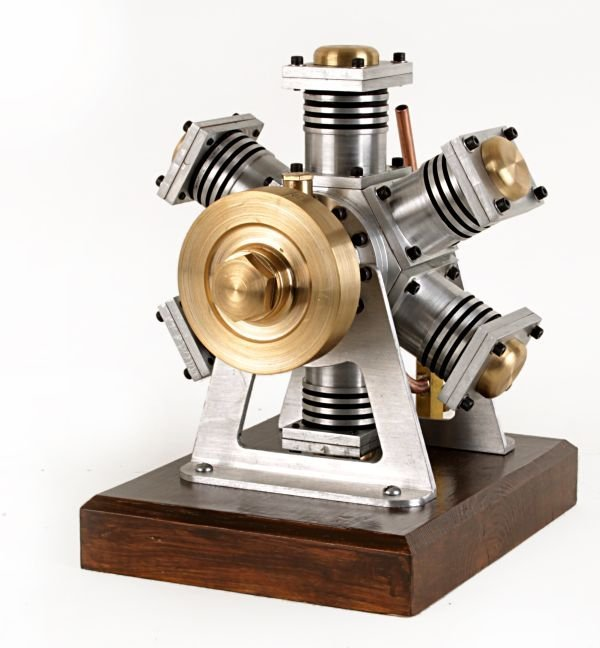 A well engineered model of a six cylinder radial s