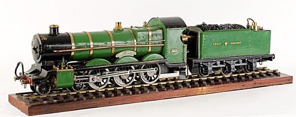 A 2 1/2 inch gauge model of a Great Western Railwa