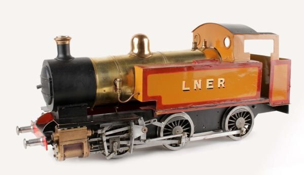 A 3 1/2 inch gauge live-steam model of a 2-4-0 sid