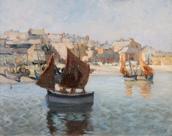 Newlyn School (20th century)Sailing boatsA pair, o