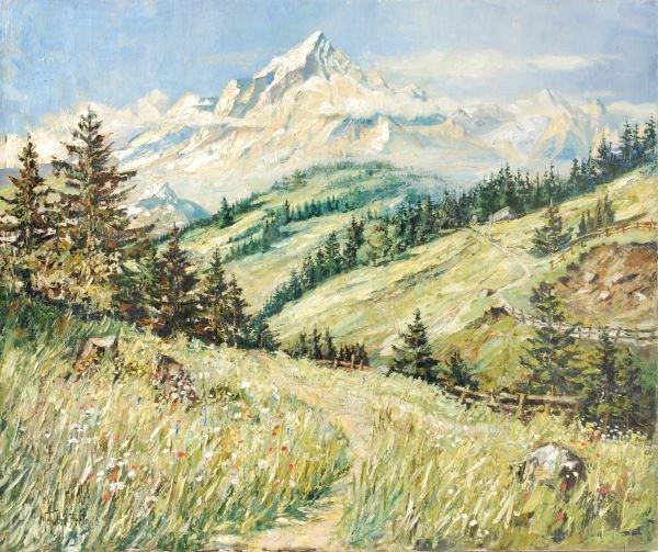 Maximillian Schultze-Bertallo (19th century)An alp