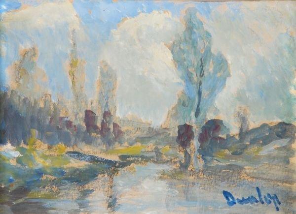 Ronald Ossory Dunlop (1894-1973)River landscapeWat