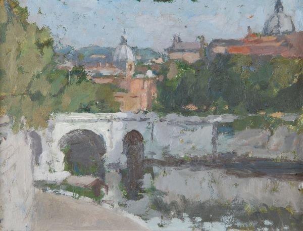 Bernard Dunstan (b.1920)View of Rome, showing the