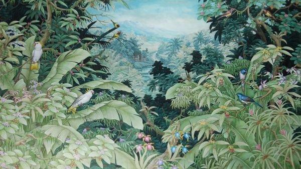 Nyoman Tulus (contemporary)Jungle scene with exoti