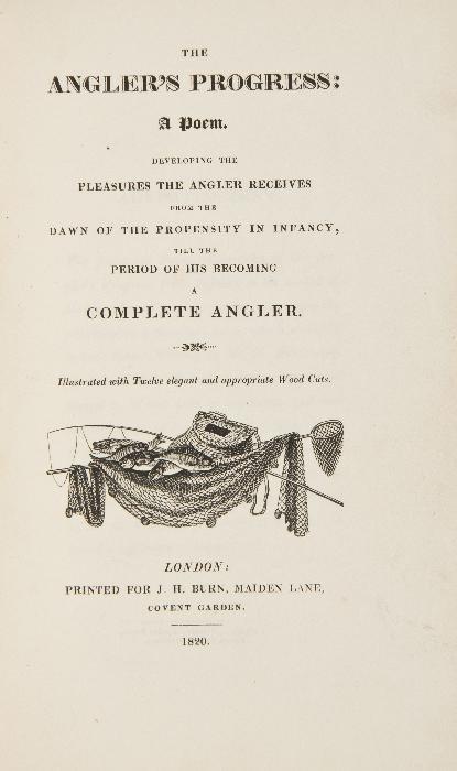 [Boaz (Herman)] The Angler's Progress: A Poem,   s