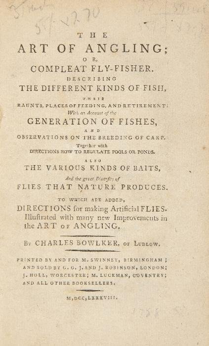Bowlker (Charles) The Art of Angling;   or, Comple