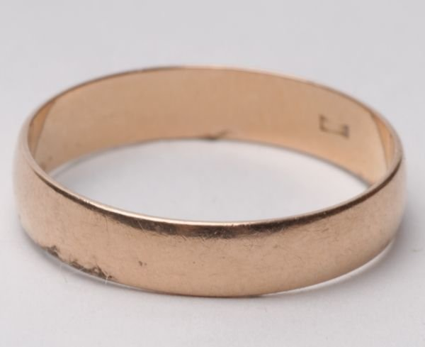A wedding ring, post revolution Russia, stamped '5