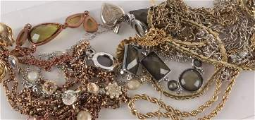A small collection of costume jewellery including