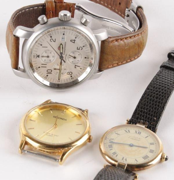 Must de Cartier, Vermeil, a gilded quartz wrist wa