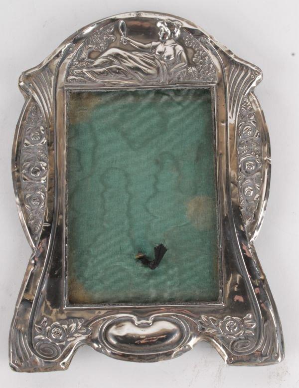 A silver Art Nouveau photograph frame, Birmingham