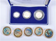 Elizabeth II, silver proof piedfort three-coin col