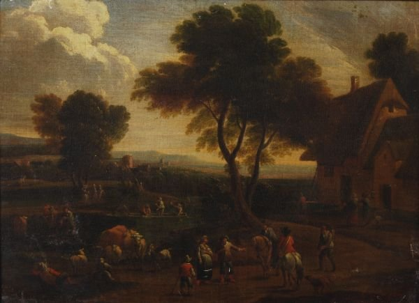 Circle of Pieter Bout A river landscape with trave