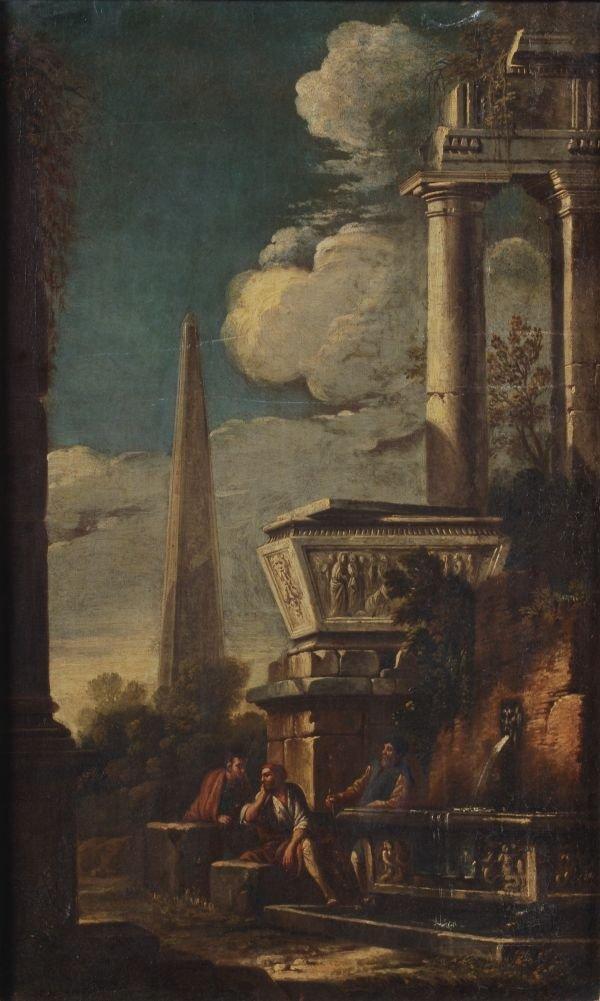Circle of Andrea Locatelli A capriccio of classica