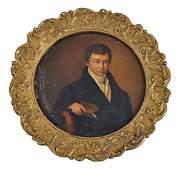 Russian School, 1829 Portrait of a gentleman seat