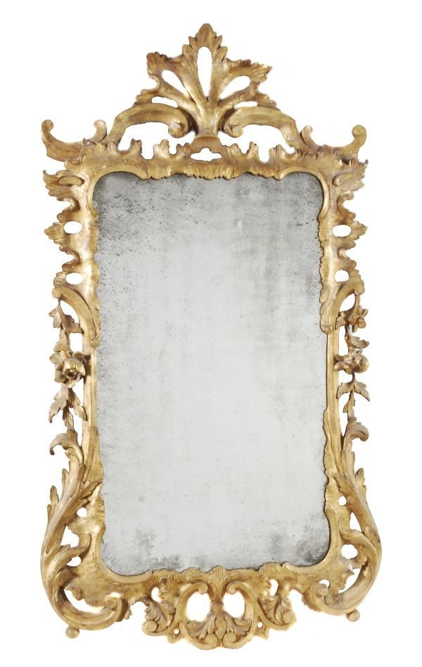 A George III carved giltwood wall mirror,  circa 1