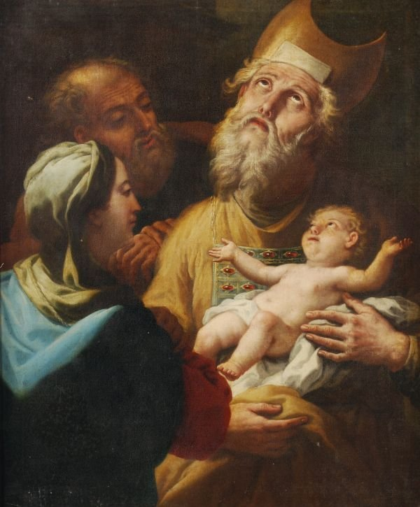 Circle of Paolo de Matteis The Circumcision Oil on