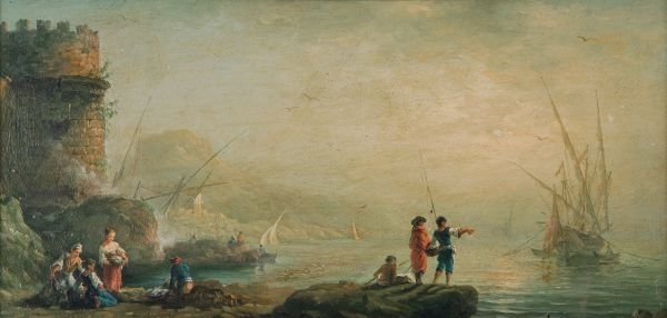 Manner of Charles François Lacroix A Mediterranean