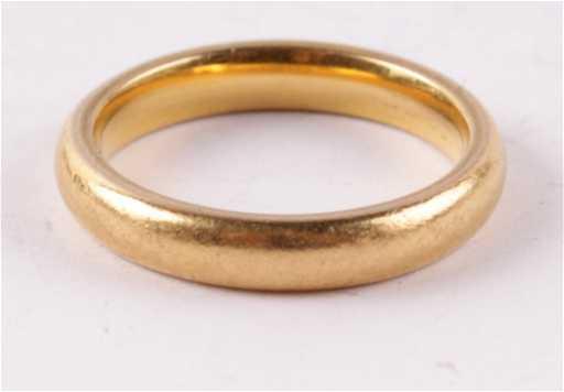 A 22 Carat Gold Wedding Ring Birmingham 1964 Of See Sold Price