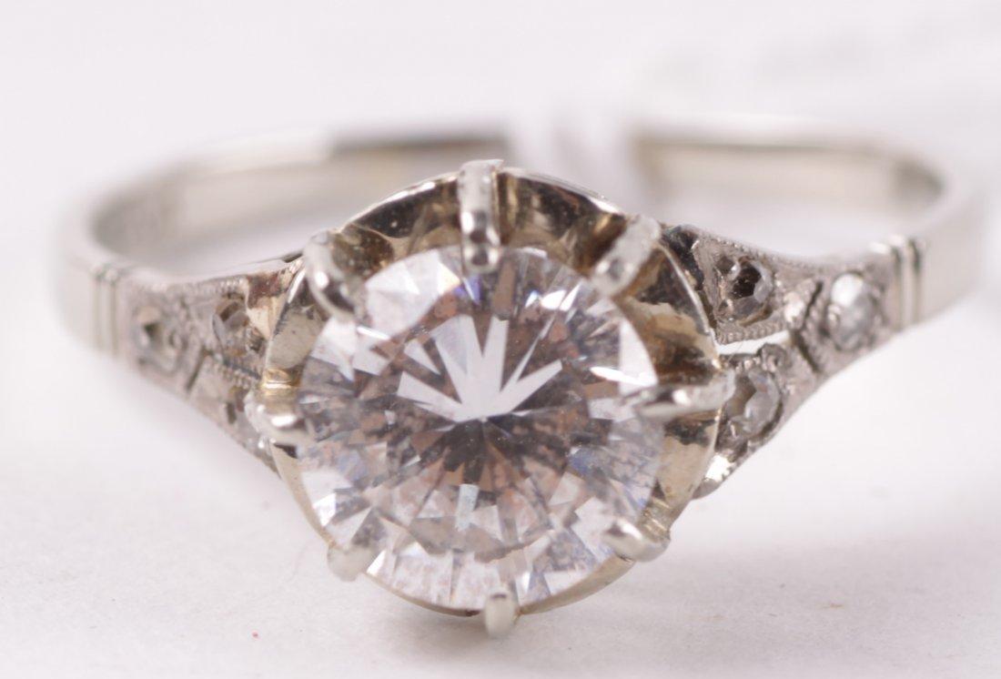 A single stone dress ring, the colourless brillian