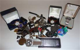 A collection of sixteen gentleman's wrist watches;