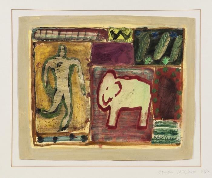 Emma McClure (b.1962) Untitled Acrylic and gouache