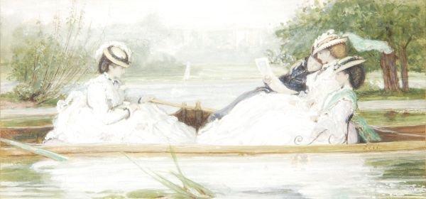 Francis Sylvester Walker (1848-1916) Elegant ladie
