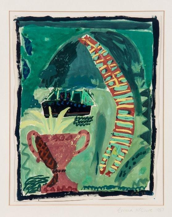 Emma McClure (b.1962) High Dive gouache on paper I