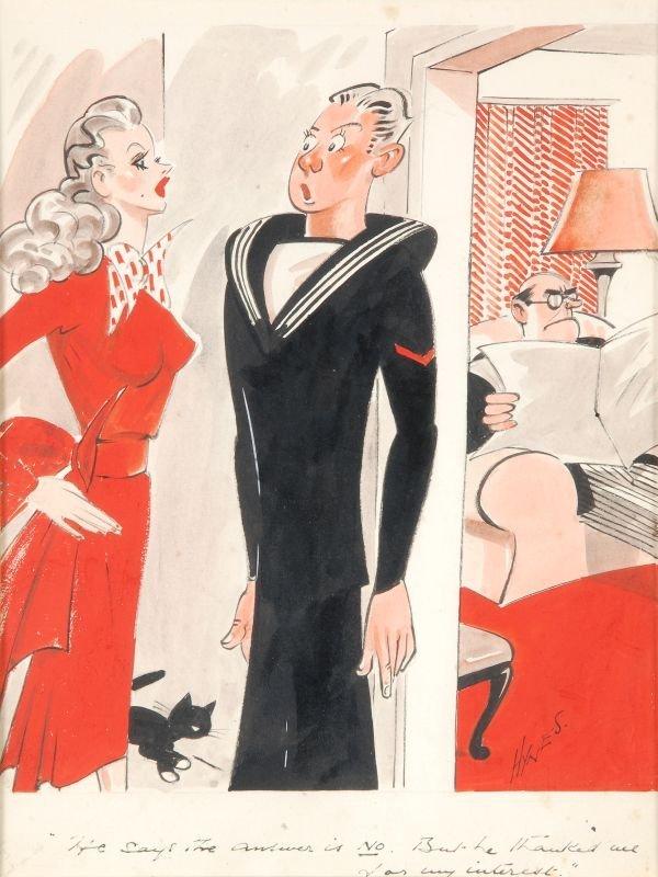 """Edward Sylvester Hynes (1897-1982) """"He says the an"""