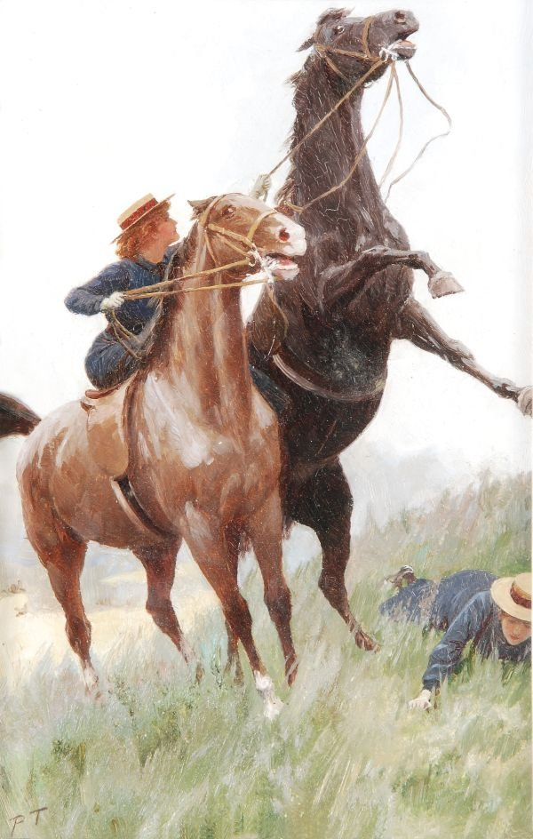 Percy Tarrant (fl.1883-1930) Thrown from the horse