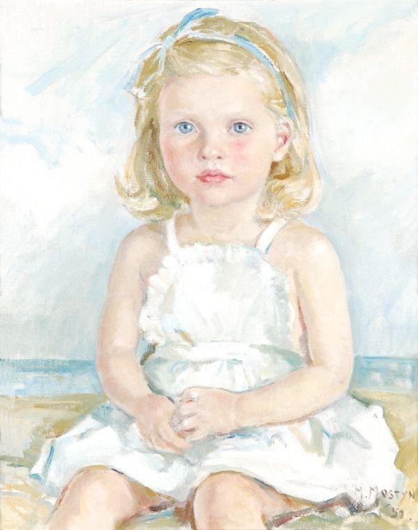 Marjorie Mostyn (b.1893) Miranda Oil on canvas Sig