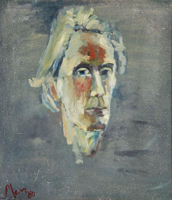 Leslie Marr (b.1922) Self Portrait 132 Oil on boar