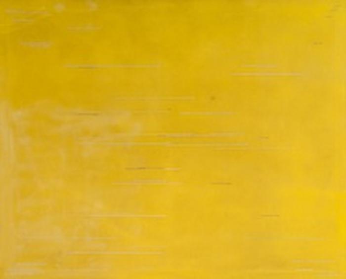 David Saunders (b.1936) Yellow Line oil on canvas,