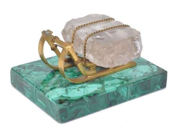A Russian gilt bronze and rock crystal mounted mod