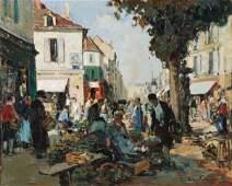 Paul Emile Lecomte 18771950 Coin de Marche Oil