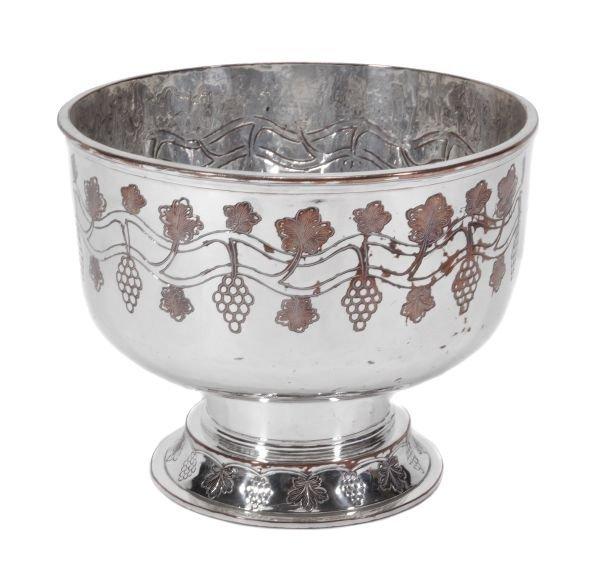 An Arts and Crafts electro-plated pedestal bowl by