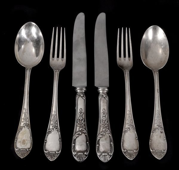 An Italian silver coloured part table service by R